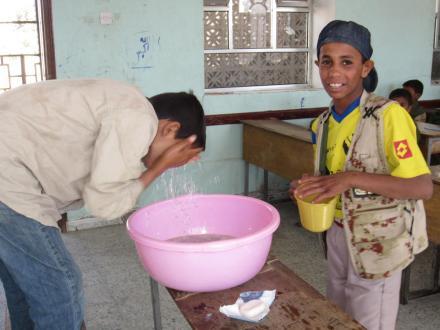 water handen wassen