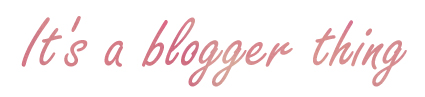 its al blogger thing