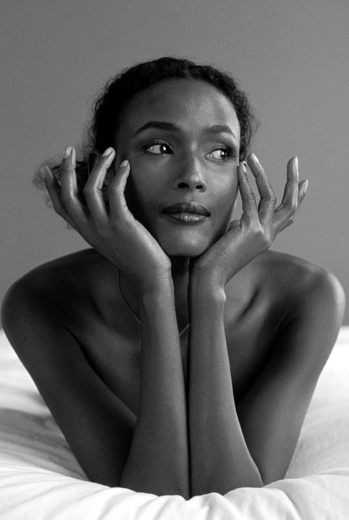 10/05/1995. Waris Dirie, A Top Model in Paris
