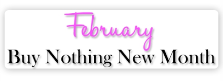 buy nothing new month blog
